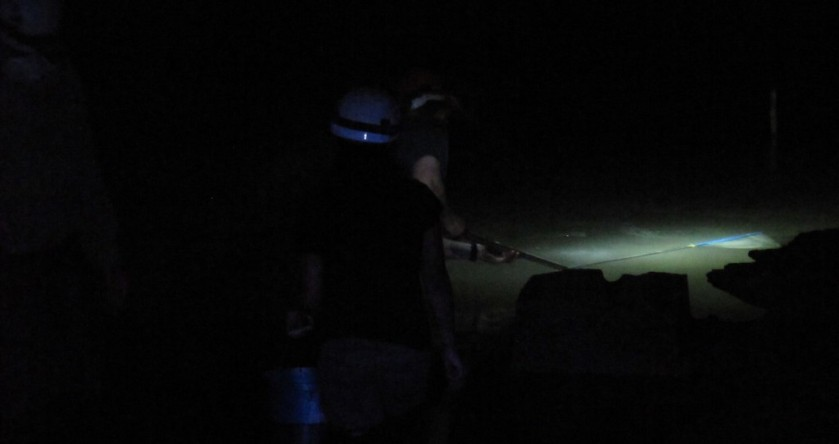 Fishing in the dark